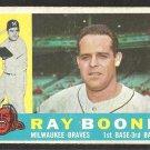 MILWAUKEE BRAVES RAY BOONE 1960 TOPPS # 281 G