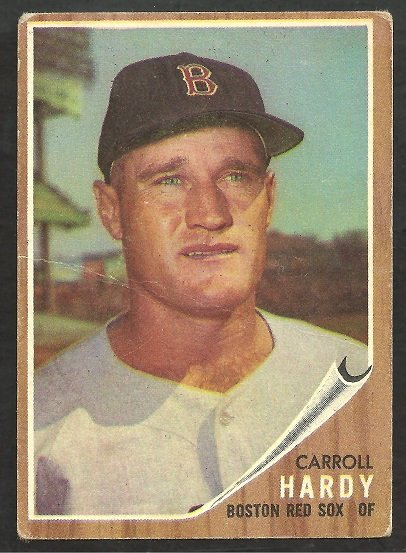 BOSTON RED SOX CARROLL HARDY 1962 TOPPS # 101 G