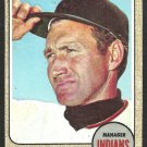 CLEVELAND INDIANS ALVIN DARK 1968 TOPPS # 237 fair/good
