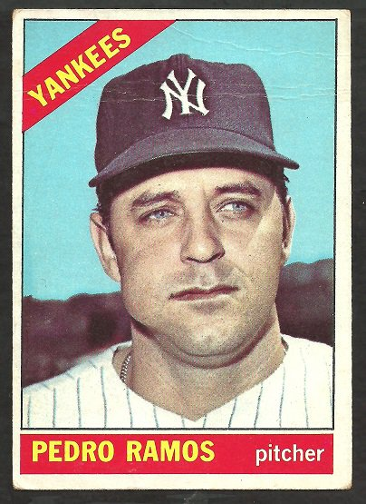 NEW YORK YANKEES PEDRO RAMOS 1966 TOPPS # 439 VG