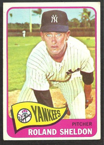 NEW YORK YANKEES ROLAND SHELDON 1965 TOPPS # 254 EX