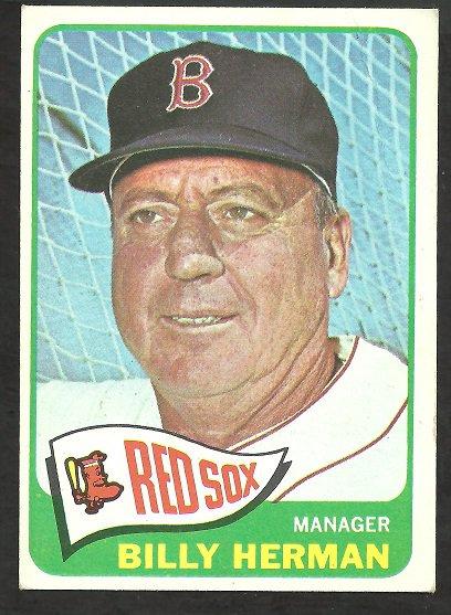 BOSTON RED SOX BILLY HERMAN 1965 TOPPS # 251 VG