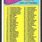 1977 TOPPS 1ST SERIES CHECKLIST 1-132 # 67 G/VG UNMARKED
