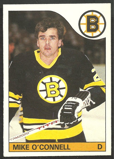 BOSTON BRUINS MIKE O'CONNELL 1985 OPC O PEE CHEE # 2 NR MT