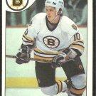 BOSTON BRUINS BARRY PEDERSON 1985 TOPPS # 52