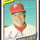 PHILADELPHIA PHILLIES DALLAS GREEN 1980 TOPPS BURGER KING # 1 NR MT