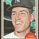 NEW YORK YANKEES FRITZ PETERSON 1968 TOPPS # 246 VG/EX