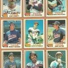 1982 Topps Minnesota Twins Team Lot 23 Smalley Wynegar Hatcher Castino +