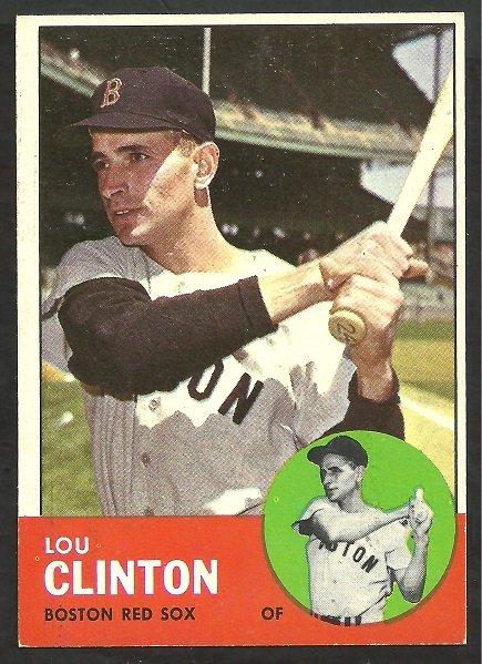 BOSTON RED SOX LOU CLINTON 1963 TOPPS # 96 NR MT