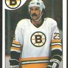 BOSTON BRUINS CHARLIE SIMMER 1985 TOPPS # 87 NR MT