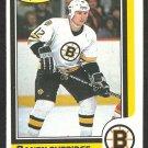 BOSTON BRUINS RANDY BURRIDGE ROOKIE CARD RC 1986 O PEE CHEE OPC # 70 NR MT