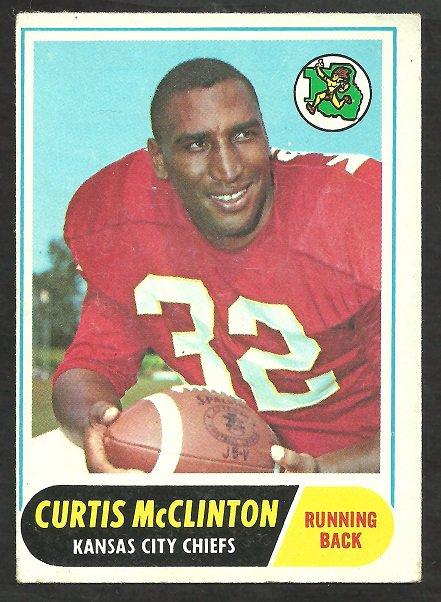 KANSAS CITY CHIEFS CURTIS McLINTON 1968 TOPPS # 67 VG/EX