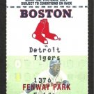 DETROIT TIGERS @ BOSTON RED SOX 1996 FENWAY PARK FULL TICKET 25 HITS