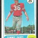 SAN FRANCISCO 49ers FORTY NINERS TOMMY DAVIS 1968 TOPPS # 165 VG