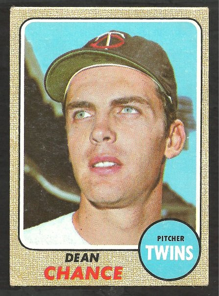 MINNESOTA TWINS DEAN CHANCE 1968 TOPPS # 255 good