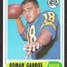 LOS ANGELES RAMS ROMAN GABRIEL 1968 TOPPS # 132 VG/EX