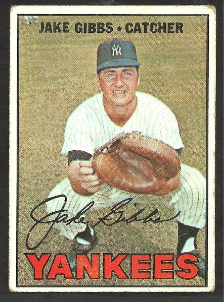NEW YORK YANKEES JAKE GIBBS 1967 TOPPS #375 VG
