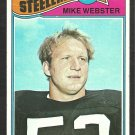 PITTSBURGH STEELERS MIKE WEBSTER 1977 TOPPS # 99 VG