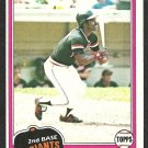 1981 Topps Baseball Card # 257 San Francisco Giants Rennie Stennett nr mt