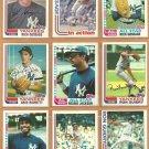 1982 Topps New York Yankees Team Lot 35 Reggie Jackson Winfield Righetti RC  Nettles Gossage Guidry