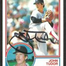 Boston Red Sox John Tudor Autograph Signed 1983 Topps Baseball Card 318