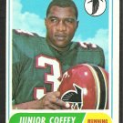 ATLANTA FALCONS JUNIOR COFFEY 1968 TOPPS # 21 VG