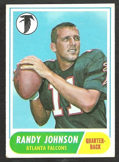 ATLANTA FALCONS RANDY JOHNSON 1968 TOPPS # 203 VG