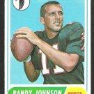 ATLANTA FALCONS RANDY JOHNSON 1968 TOPPS # 203 VG