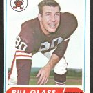 CLEVELAND BROWNS BILL GLASS 1968 TOPPS #154 EX