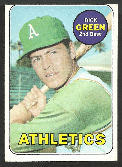 OAKLAND A�s ATHLETICS DICK GREEN 1969 TOPPS # 515 EX/EM OC