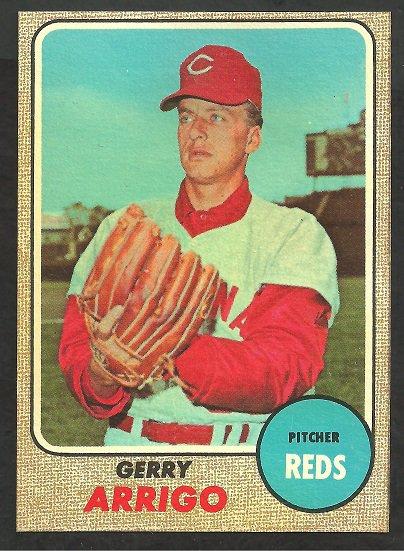 Cincinnati Reds Gerry Arrigo 1968 Topps Baseball Card # 302