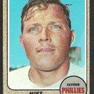 PHILADELPHIA PHILLIES MIKE RYAN 1968 TOPPS # 306 EX MT