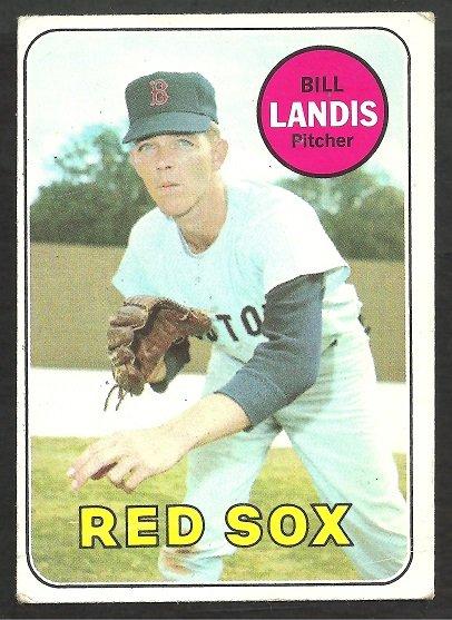 BOSTON RED SOX BILL LANDIS 1969 TOPPS # 264 VG