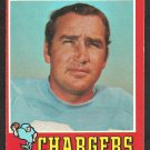 SAN DIEGO CHARGERS JOHN HADL 1971 TOPPS # 255 EX