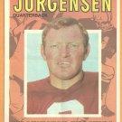 WASHINGTON REDSKINS SONNY JURGENSEN 1971 TOPPS PINUP 17