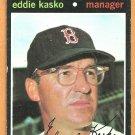 BOSTON RED SOX EDDIE KASKO 1971 TOPPS # 31 VG+/EX