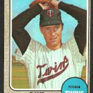 MINNESOTA TWINS DAVE BOSWELL 1968 TOPPS # 322 VG