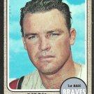 Atlanta Braves Deron Johnson 1968 Topps Baseball Card # 323