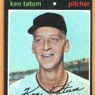 BOSTON RED SOX KEN TATUM 1971 TOPPS # 601 EX