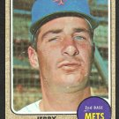 NEW YORK METS JERRY BUCHEK 1968 TOPPS # 277 G/VG