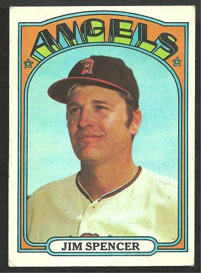 CALIFORNIA ANGELS JIM SPENCER 1972 TOPPS # 419 VG/EX