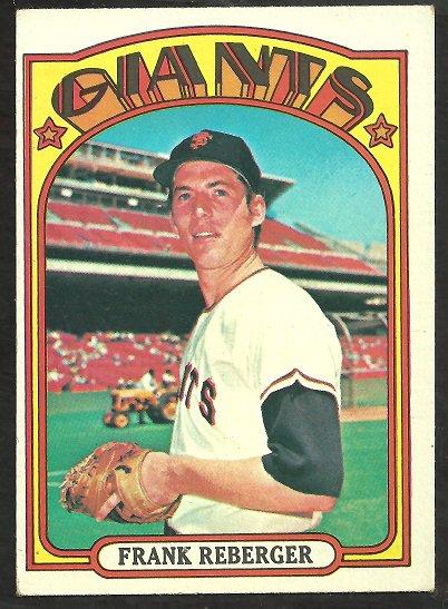SAN FRANCISCO GIANTS FRANK REBERGER 1972 TOPPS # 548 VG+