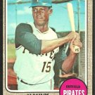 PITTSBURGH PIRATES MANNY MOTA 1968 TOPPS # 325 VG