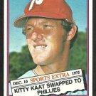 PHILADELPHIA PHILLIES JIM KAAT 1976 TOPPS TRADED # 80T NR MT