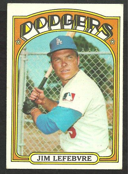 LOS ANGELES DODGERS JIM LEFEBVRE 1972 TOPPS # 369 VG/EX