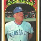 KANSAS CITY ROYALS BOB LEMON 1972 TOPPS # 449 VG/EX