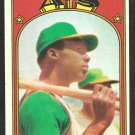 OAKLAND A's ATHLETICS GEORGE HENDRICK ROOKIE CARD 1972 TOPPS # 406 VG/EX