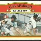 BOSTON RED SOX LUIS APARICIO I/A 1972 TOPPS # 314 VG/EX