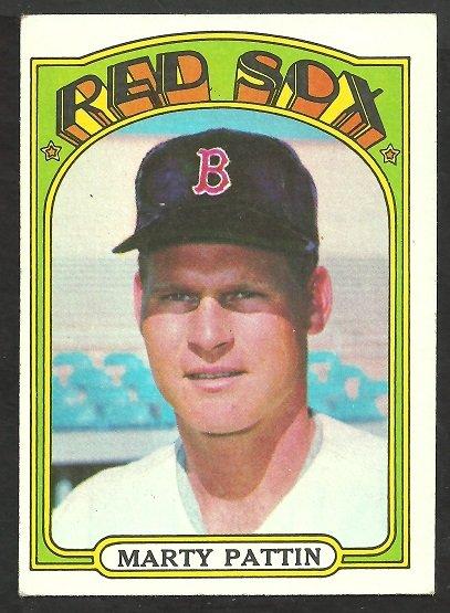 BOSTON RED SOX MARTY PATTIN 1972 TOPPS # 144 EX/EX MT