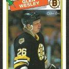 BOSTON BRUINS GLEN WESLEY ROOKIE CARD RC 1988 OPC O PEE CHEE # 166